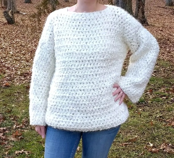 Crochet Chunky Oversized Sweater A Free Pattern By Croyden Crochet