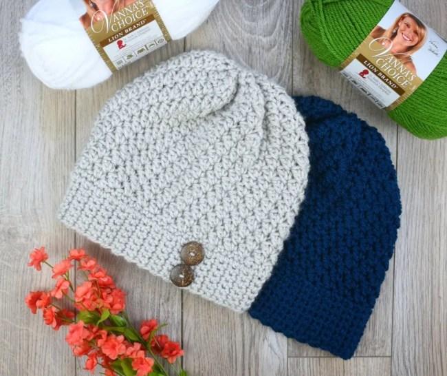 alabaster slouch crochet beanie