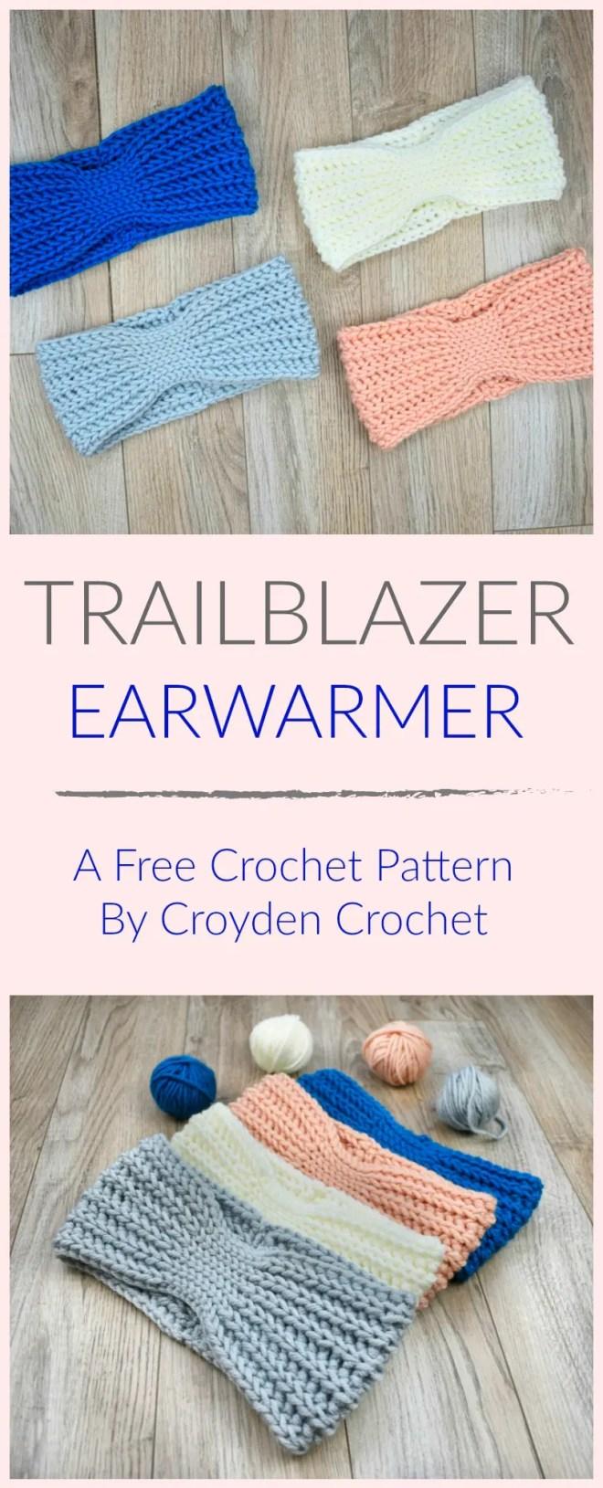 Trailblazer Crochet Earwarmer Pin
