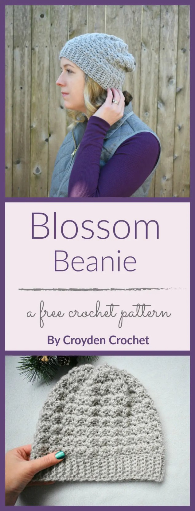 blossom beanie pin image