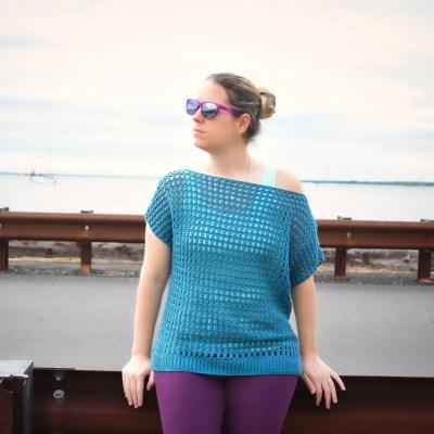 easy going crochet top pattern