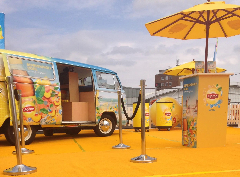Branded campervan experiential marketing