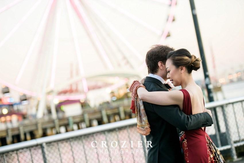 seattle aquarium wedding portraits