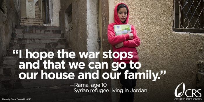 17 years is the average length of time refugees are uprooted from their lives. Here are 7 things you can do to help through Catholic Relief Services. #WorldRefugeeDay