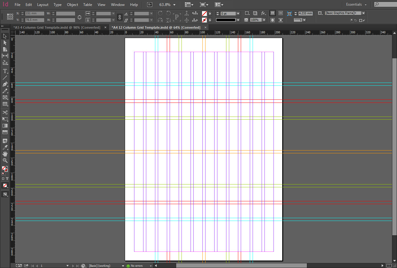Free Indesign A4 12 Column Grid Template