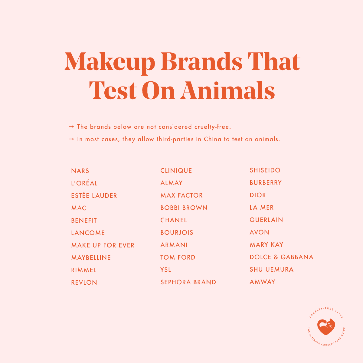 30 Makeup Brands That Still Test On Animals In 2020 Cruelty Free Kitty