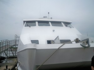 One of Belize's larger tenders.