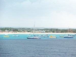 This is how close we came to docking in Grand Turk.