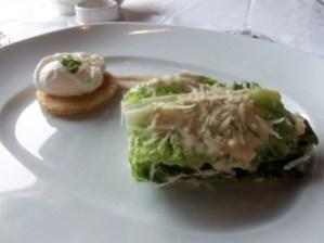 Le Cirque's interpretation of the Caesar Salad.