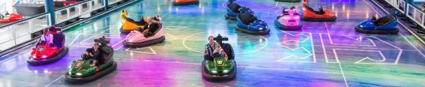 Royal Caribbean introduces its newest and most technologically advanced cruise ship Anthem of the Seas. Dodgems at Seaplex
