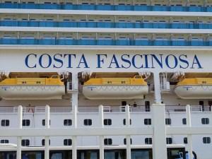 COSTA FASCINOSA - Schriftzug Bordwand