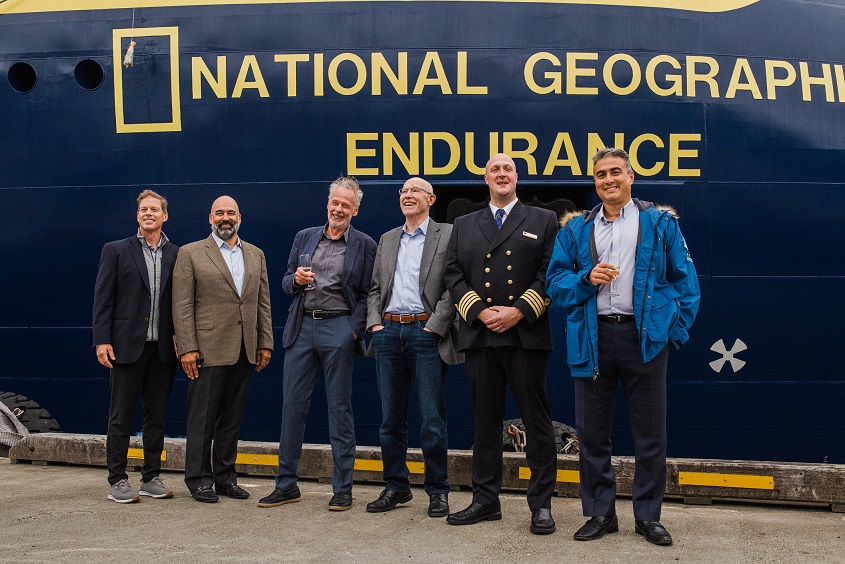 NATIONAL-GEOGRAPHIC-ENDURANCE-Taufe-005 X-Bow Cruise Liner NATIONAL GEOGRAPHIC ENDURANCE getauft