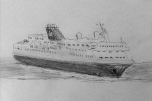 Zeichnung vom Kreuzfahrtschiff Vidanta Elegant