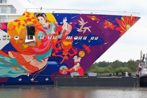 WORLD DREAM - hull artwork - bow