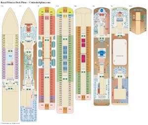 Royal Princess Deck Plans, Diagrams, Pictures, Video