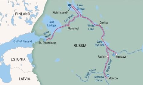 Afbeeldingsresultaat voor cruise map moskou st petersburg