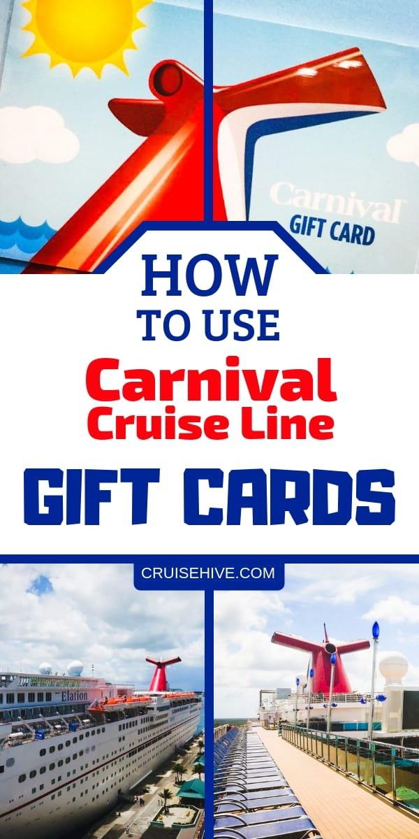 How To Use Carnival Cruise Line Gift Cards