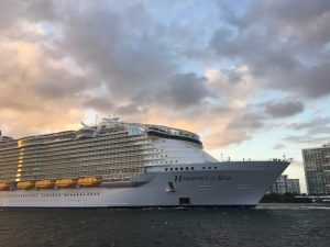Harmony of the Seas Departing Port Everglades. Captured by Greg Dragonetti 11/5/2016