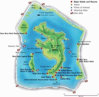 Bora Bora Island (Society Islands, French Polynesia ...