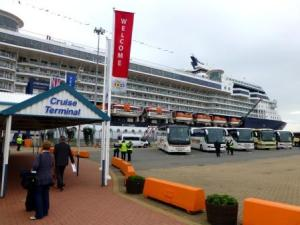 Harwich cruiseterminal en Celebrity Infinity
