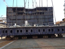 keel laying ne pinnacle ship hal2