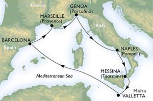 routes msc meraviglia