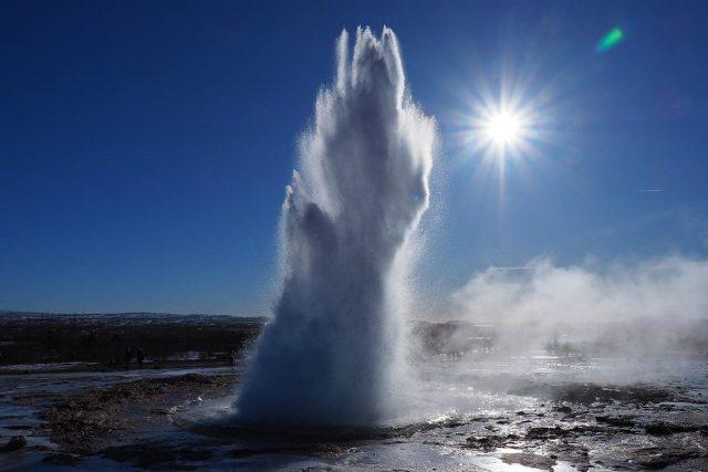 Geiser in IJsland