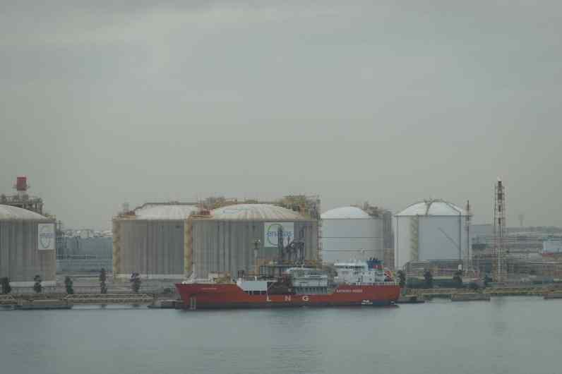 LNG tanker in Barcelona