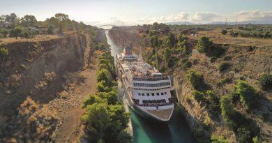 Braemar herhaalt recordbrekende reis door Kanaal van Korinthe