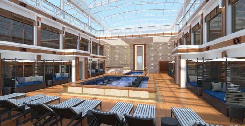 Norwegian Encore The Haven Courtyard