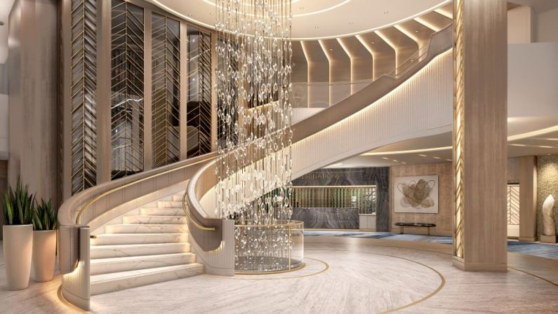 Vista Oceania The Grand Staircase An iconic element of the Oceania Cruises brand