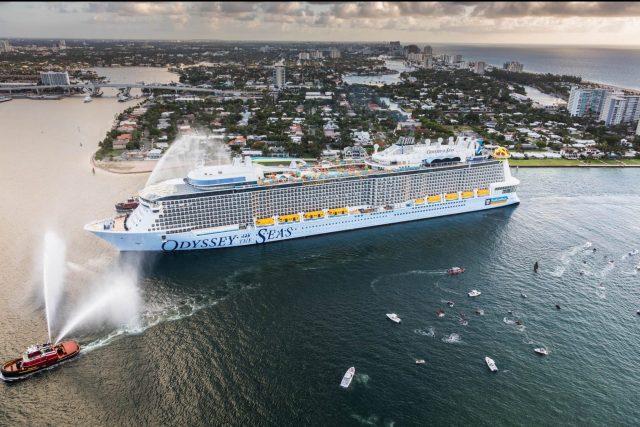 Odyssey of the Seas arriveert in Amerika