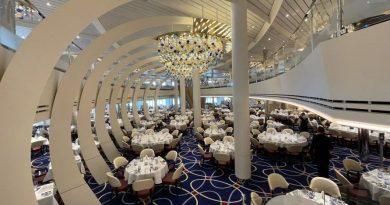 Fotoreportage cruiseschip Rotterdam: Restaurants en eetgelegenheden