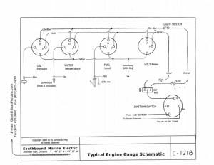 Engine Gauge Wiring Diagram  See also Gauge Testing
