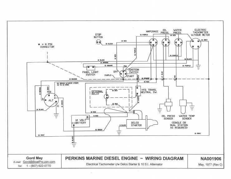 Perkins Alternator Wiring Diagram Com