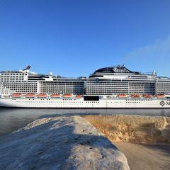 El MSC Meraviglia visita por primera vez el Puerto de La Valetta