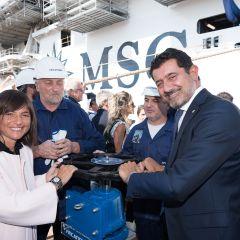 MSC Cruceros y Fincatieri celebran la puesta a flote de MSC Seaview