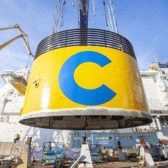 La chimenea amarilla del nuevo Costa Smeralda será la más verde de Costa Cruceros