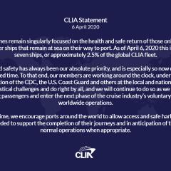 Comunicado de CLIA sobre situación actual de la flota