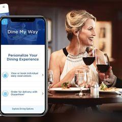 """""""Dine My Way"""", la nueva herramienta para personalizar las experiencias gastronómicas a bordo de los barcos de Princess Cruises"""