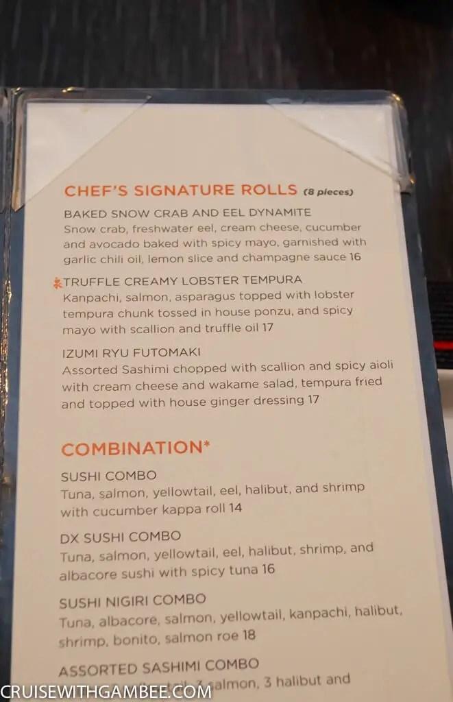 Royal Caribbean Menus Cruise With Gambee