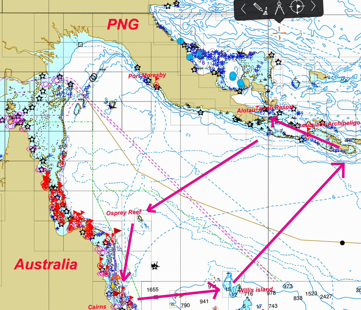 Cruising PNG Milne bay province 2016