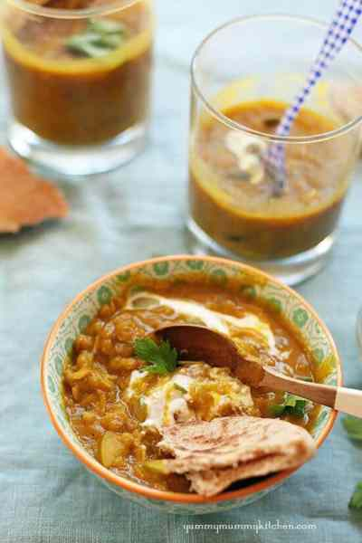 Curried Pumpkin Lentil Soup from the Yummy Mummy Kitchen