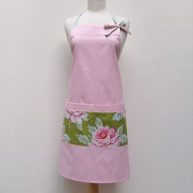Audrey Apron in Pink Roses