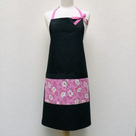 Audrey Apron in Pink Floral