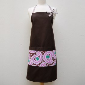 Audrey Apron in Pink Paisley