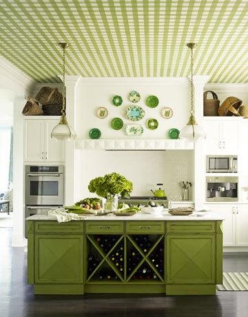 Green Gingham Kitchen