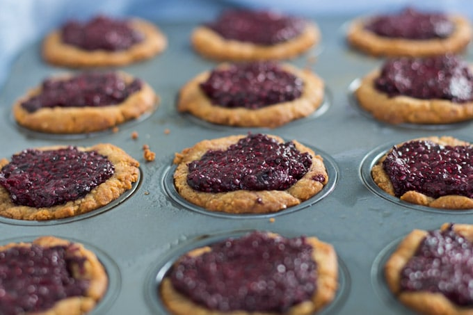 Peanut Butter and Chia Jam Cookie Cups