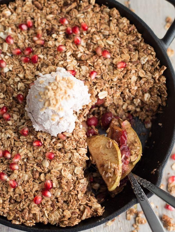 Apple, Cranberry and Pomegranate Oatmeal Crisp