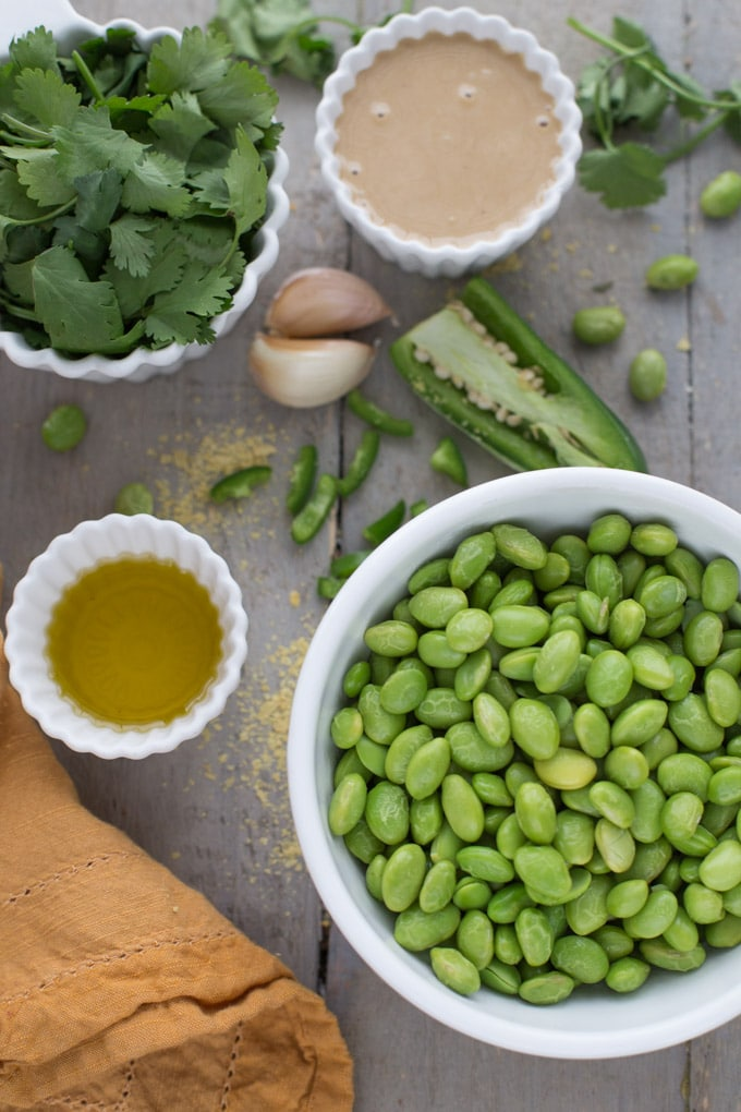Cilantro Jalapeno Edamame Hummus